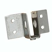 Equerre de fixation articulée PREGYMETAL boîte de 100 pièces - Porte de service isolante VANNES en PVC ISO140 Blanc droite poussant haut.2,00m larg.80cm - Gedimat.fr