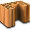 Brique terre cuite poteau POROTHERM R42 ép.42,5cm haut.24,9cm long.28,2cm - Porte de garage basculante débordante sans rail haut.2,125m larg.2,50m - Gedimat.fr