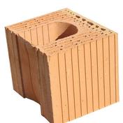 Brique terre cuite linteau-chaînage POROTHERM R30 ép.30cm haut.24,9 cm long.25cm - Panneau de Particule Surfacé Mélaminé (PPSM) ép.19mm larg.2,07m long.2,80m Prunier Perse finition Velours Bois poncé - Gedimat.fr