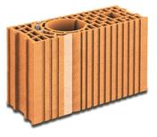 Brique terre cuite poteau multi-angles POROTHERM GFR20 ép.20cm haut.29,9cm long.51,5cm - Fronton pour faîtière 1/2 ronde à recouvrement coloris nuance - Gedimat.fr