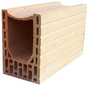 Brique terre cuite linteau-chaînage POROTHERM T20 ép.20cm haut.24cm long.50cm - Rive individuelle verticale à emboîtement droite grand rabat coloris terroir - Gedimat.fr
