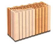 Brique terre cuite demi-tableau ébrasement 20 POROTHERM R37 ép.37,5cm haut.24,9cm long.12,5cm - Fronton pour rives verticales DC12 et DCL coloris ton cévenol - Gedimat.fr