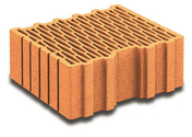 Brique terre cuite arase POROTHERM R30 ép.30cm haut.12,4cm long.25cm - Brique terre cuite base POROTHERM R30 ép.30cm haut.24,9cm long.37,3cm - Gedimat.fr