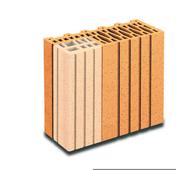 Brique terre cuite demi-tableau POROTHERM R30 ép.30cm haut.24,9cm long.12,5cm - Briques de construction - Matériaux & Construction - GEDIMAT