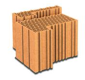 Brique terre cuite feuillure + demi-feuillure POROTHERM R30 ép.30cm haut.24,9cm long.31,4cm - Brique terre cuite de calepinage horizontal POROTHERM R30 ép.30cm haut.24,9cm long.25cm - Gedimat.fr
