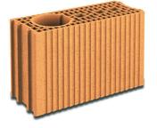 Brique terre cuite poteau POROTHERM T20 ép.20cm haut.24cm long.45cm - Planelle terre cuite isolée 16 EFFE 2 long.50cm larg.5cm haut.23,8cm - Gedimat.fr