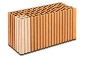 Brique terre cuite tableau-feuillure POROTHERM R20 ép.20cm haut.24,9cm long.50cm - Fronton de rive bardelis TBF coloris rose - Gedimat.fr