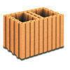 Brique terre cuite A BANCHER R17,5 ép.24cm haut.24,9cm long.37,3cm - Briques de construction - Matériaux & Construction - GEDIMAT