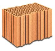 Brique terre cuite base BIOMUR R37 ép.37,5cm haut.24,9cm long.25cm - Poutre VULCAIN section 20x45 cm long.7,50m pour portée utile de 6,6 à 7,1m - Gedimat.fr