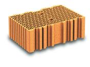 Brique terre cuite arase POROTHERM R37 ép.37,5cm haut.12,4cm long.25cm - Brique terre cuite poteau POROTHERM R30 ép.30cm haut.24,9cm long.42,5cm - Gedimat.fr