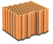 Brique terre cuite complémentaire POROTHERM R30 ép.30cm haut.18,9cm long.25cm - Volet battant PVC ép.24mm blanc 2 vantaux haut.95cm larg.1,40m - Gedimat.fr