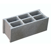 Bloc béton creux NF B60 ép.20cm haut.20cm long.50cm - Gravier marbre blanc calibre 8/16 sac de 25kg - Gedimat.fr
