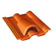 Tuile châtière grillagée DOUBLE ROMANE coloris rouge sienne - Fileur droit pour meuble bas four de cuisine ANTHRACITE haut.9,6cm larg.60cm - Gedimat.fr
