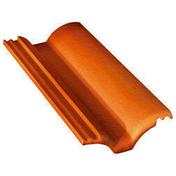 Demi-tuile béton PLEIN CIEL coloris brun - Fronton de rive vertical TBF coloris rose - Gedimat.fr