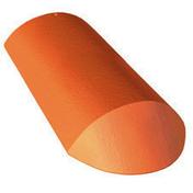 About d'arêtier de 42 à recouvrement coloris rouge sienne - Demi-tuile PV10 coloris vieilli masse - Gedimat.fr