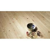 Parquet à clouer massif pin des landes INDIANA petits Noeuds ép.23 mm larg.140 mm long.2 m - Tuile AQUITAINE coloris flammé rustique - Gedimat.fr