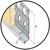Profilé d'arrêt bas d'enduit projeté métal perforé sans jonc pvc ép.15mm long.3m - Kit isolation mince pour porte de garage - Gedimat.fr
