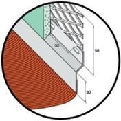 Solin acier déployé nuance zinc avec bavette 20cm en plomb plissé laqué rouge vieilli long.2m - Solins - Abergements - Couverture & Bardage - GEDIMAT