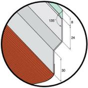 Solin joint mastic nuance sable avec bavette 20cm en plomb plissé rouge vieilli long.2m - Parquet bambou massif VERTICAL CARAMEL VERNI ép.12mm larg.96mm long.960mm - Gedimat.fr