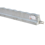 Poutrelle précontrainte béton RS 112 long.3,50m - Portail coulissant YUKON en aluminium haut.1,60m largeur entre piliers 4,00m gris RAL 7016 STR - Gedimat.fr