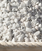 Gravier granulométrie 9/12mm MACAEL 25kg coloris blanc - Sables - Graviers - Galets décoratifs - Revêtement Sols & Murs - GEDIMAT