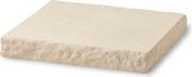 Chapeau de pilier plat LLICORELLA dim.50x50cm ép.7 cm ton pierre - Chapeau pour pilier pierre reconstituée CHEVERNY 50x50cm haut.11cm coloris champagne - Gedimat.fr