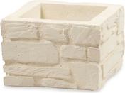 Elément de pilier LLICORELLA dim.30x30cm haut.20cm coloris ton pierre - Piliers - Murets - Aménagements extérieurs - GEDIMAT