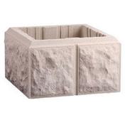 Elément de pilier bosselé dim.40x40cm haut.17cm coloris blanc - Moulure extrudée en polystyrène haute densité 35x55mm long.2,00m ton blanc - Gedimat.fr