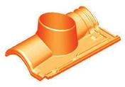 Tuille à douille ROMANE-CANAL diam.130mm coloris rouge volcan - Rive à rabat gauche à recouvrement PANNE H2 HUGUENOT coloris flammé rustique - Gedimat.fr