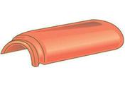 About à emboîtement de faîtière ronde ventilée pour tuiles TERREAL coloris rouge - Fronton pour rives verticales DC12 et DCL coloris rouge - Gedimat.fr