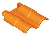 Double de rive de raccordement ROMANE-CANAL coloris ton cévenol - Entrevous moulé en polystyrène ISOLEADER 23 M4 entraxe de 60cm long.60cm - Gedimat.fr