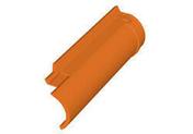 Rive ronde droite DC12 coloris castelviel - Décor FLAMES pour mur en faïence mate blanche Long.1 x Larg.0,333 m - Gedimat.fr