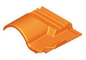Sous-faîtière 1/2 pureau pour tuiles ROMANE-CANAL coloris rouge - Double de rive + clip ROMANE-CANAL coloris rouge - Gedimat.fr
