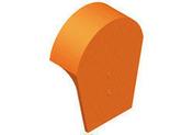 Fronton pour rives verticales DC12 et DCL coloris rouge - Lanterne diam.100mm pour tuiles TERREAL coloris val de loire flammé - Gedimat.fr