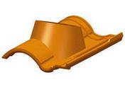 Tuile à douille DC12 diam.150mm coloris castelviel - Tuile PLATE 20x30 HUGUENOT coloris ardoise - Gedimat.fr