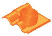 Tuile à douille ROMANE-CANAL diam.150mm coloris rouge - Lanterne diam.150mm pour tuiles TERREAL coloris rouge naturel - Gedimat.fr