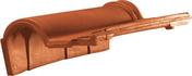 Tuile de rive à rabat gauche à emboîtement ROMANE SANS coloris rouge - Tuile DOUBLE-CANAL DC12 coloris vieux midi - Gedimat.fr