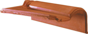 Tuile de rive à rabat droite à emboîtement MERIDIONALE POUDENX coloris pastel - About d'arêtier pour faîtière cylindrique TERREAL coloris vieille terre - Gedimat.fr