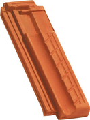 Demi-tuile MARSEILLE POUDENX coloris rouge - Mamelon laiton brut fileté réduit 243 mâle diam.26x34mm femelle diam.15x21mm avec lien 1 pièce - Gedimat.fr