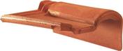 Tuile de rive à rabat droite à emboîtement 2/3 pureau MERIDIONALE POUDENX coloris rose - Lanterne diam.150mm pour tuiles TERREAL coloris cendré - Gedimat.fr