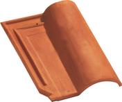 Tuile de finition droite à emboîtement 2/3 pureau MERIDIONALE POUDENX coloris rouge - Bloc-porte FUJI isolant revêtu mélaminé structuré finition gris galet haut.204cm larg.73cm droit poussant - Gedimat.fr