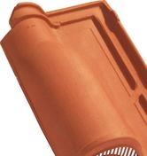 Tuile à douille ROMANE SANS diam.120mm coloris calanque - Tuile de ventilation MERIDIONALE + grille coloris brun - Gedimat.fr