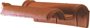Tuile de rive à rabat droite à recouvrement ROMANE SANS coloris rouge - Pierre naturelle DE BAVIERE - Gedimat.fr