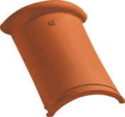 Faîtière/Arêtier à bourrelet et emboîtement coloris rouge - Fronton de rive ronde pour faîtière à emboîtement de 50cm TERREAL coloris vieux midi - Gedimat.fr
