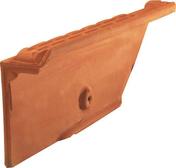 Rive individuelle de faîtage droite à emboîtement MARSEILLE POUDENX coloris rouge - Carrelage pour mur en faïence mate TREND larg.25cm long.50cm coloris gris - Gedimat.fr