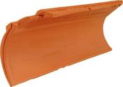 Rive ronde individuelle gauche à emboîtement MERIDIONALE/AQUITAINE coloris Saintonge - Brosse coudée sur plat professionnelle fibres soies manche bois larg.30 mm en vrac 1 pièce - Gedimat.fr