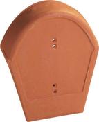 Fronton à 90° grand modèle pour faîtière à pureau variable à emboîtement coloris paysage - Coffrage de poteau PVC ABS stable aux U.V.GEOTUBE réutilisable circulaire haut.60cm diam.50cm - Gedimat.fr