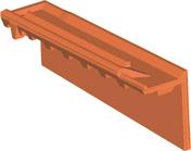 Rive individuelle verticale à emboîtement droite grand rabat coloris brun rustique - Escalier droit KARINA en acier plastifié gris haut.2,28/2,82m marches en bois (hêtre) clair finition verni - Gedimat.fr