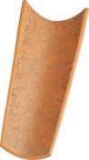 Tuile CANAL à tenons coloris terroir - Volet battant PVC ép.24mm blanc 2 vantaux haut.1,95m larg.1,00m - Gedimat.fr