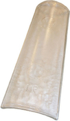 Tuile de verre CANAL - Planelle terre cuite POROTHERM à rupture thermique long.80cm larg.6,5cm haut.16cm - Gedimat.fr